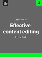 Effective Content Editing, Lisa Reich