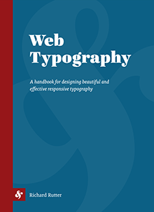 Web Typography, Richard Rutter